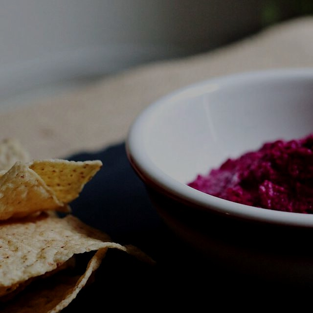 Roasted beet and feta dip! http://bit.ly/1wRCvpp