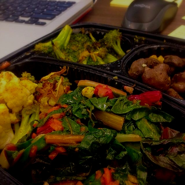 colorful lunch while I work today :)
