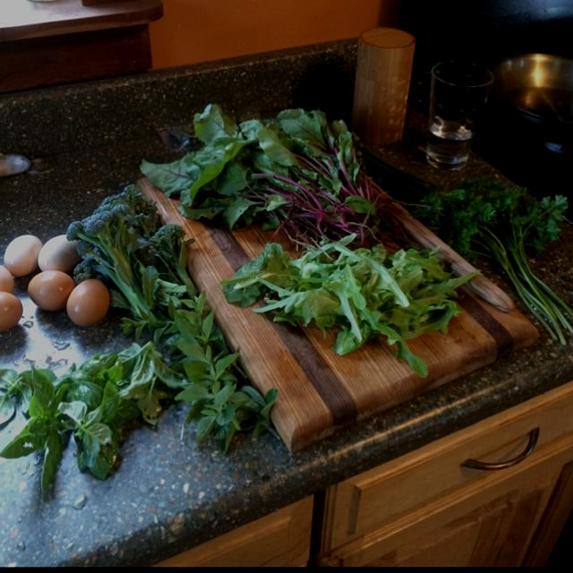 All from the land, + lambs quarters