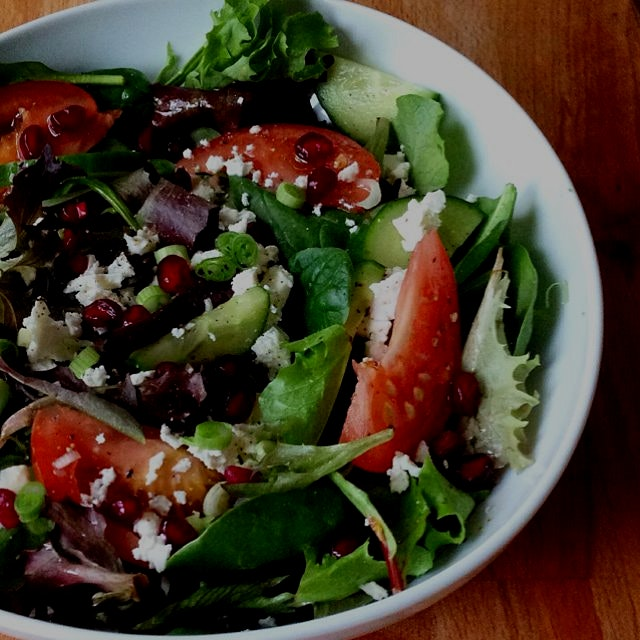 Mixed Greens and Pomegranate Salad. So delicious and nourishing that you'll never want it to end....