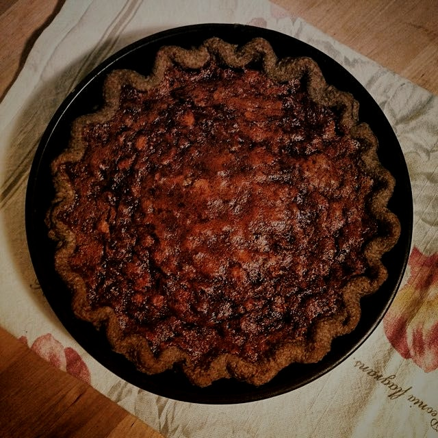 Chocolate Hazelnut Chess Pie. Buckwheat crust. Pecan Pie's alter-ego! Recipe found on Adventures ...