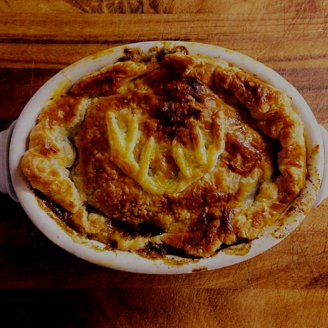 Venison, Chestnut and Guiness pie. What a brilliant combo of flavours under a flakey crust. From ...