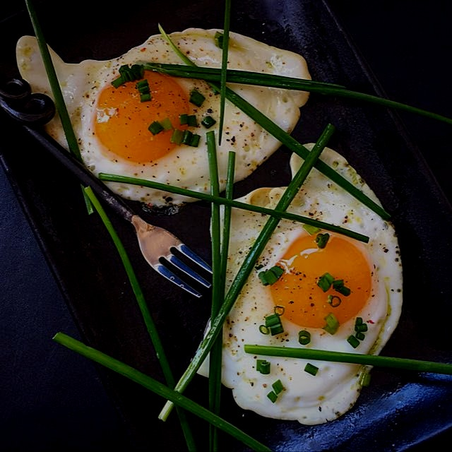 Just eggs for lunch!