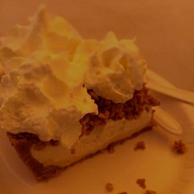 The Nutty Piefessor: Peanut butter base. Peanut custard. Vanilla gelato. Fav was the crushed pean...