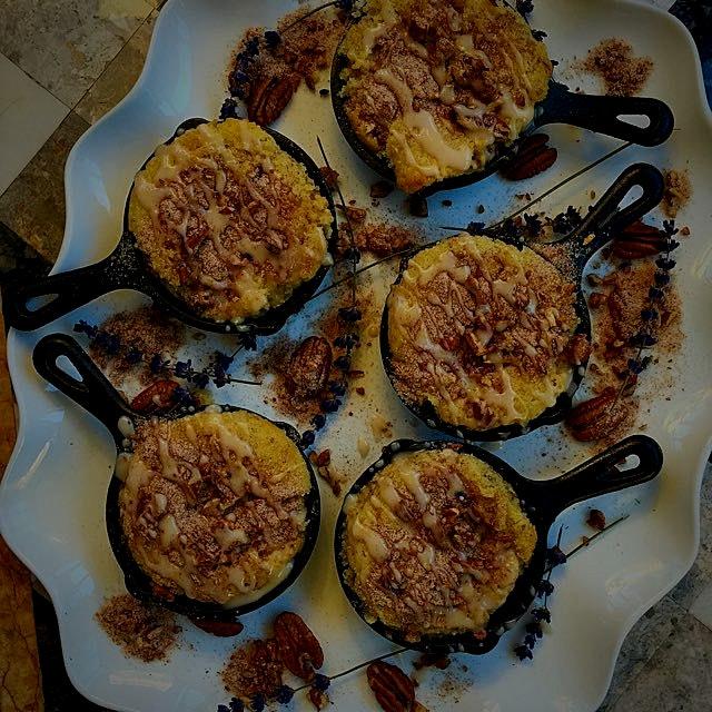 I made homemade gluten-free Greek Yogurt Skillet Coffeecakes for breakfast today! Recipe on www.C...