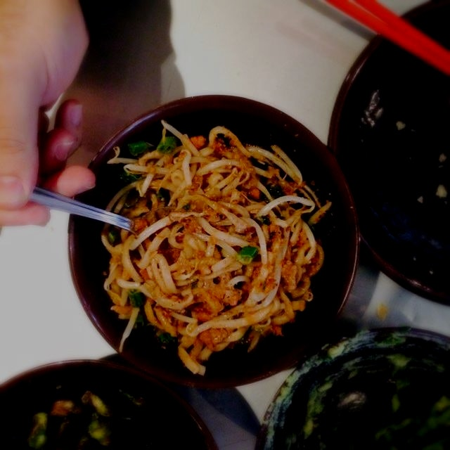 Dan Dan noodles with spicy pork. Just one of the many delicious treats at myers and chang's dim s...