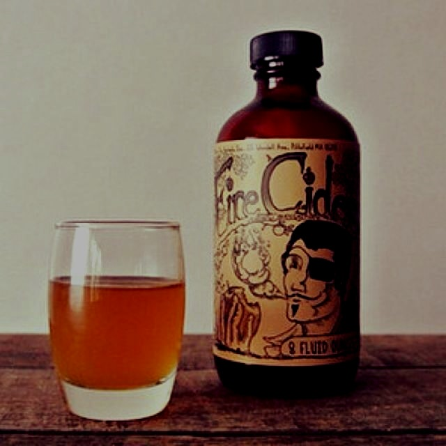 It's cold outside. Keeping healthy with generous doses of fire cider. We love this stuff!