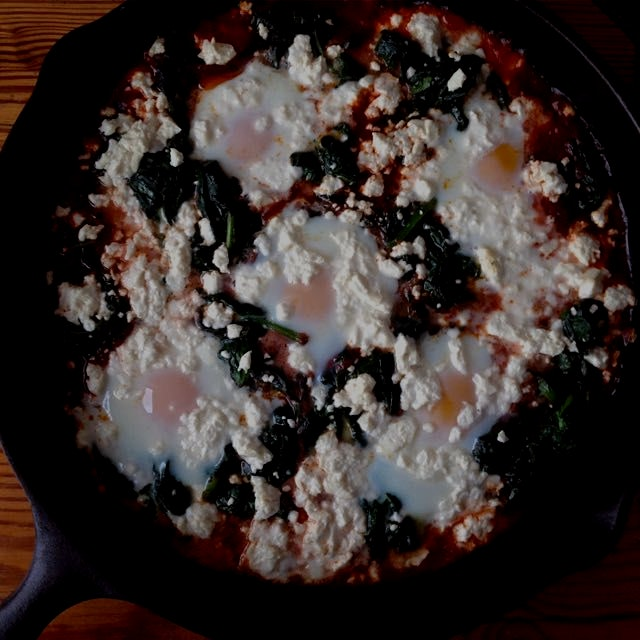 Turkish baked eggs for brunch