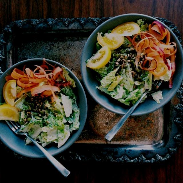 my favourite vegan Caesar salad dressing causes addiction to salads... recipe on mynaturalkitchen...