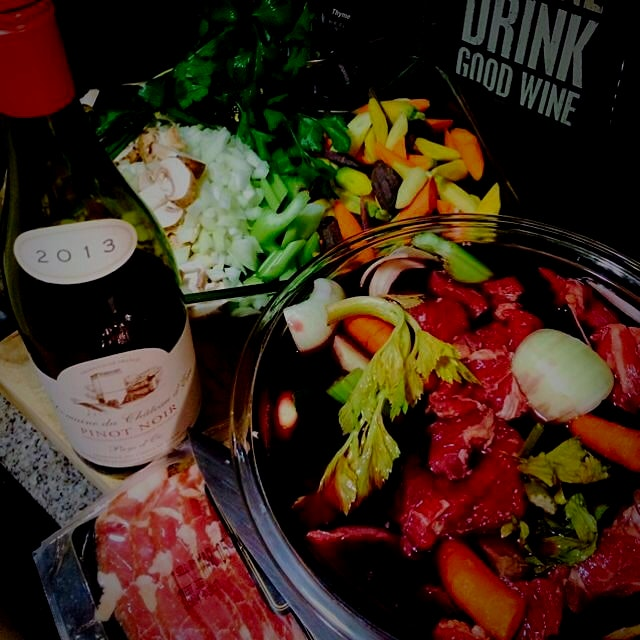 Getting ready to make Beef Bourguignon on this chilly night!  Stay tuned!