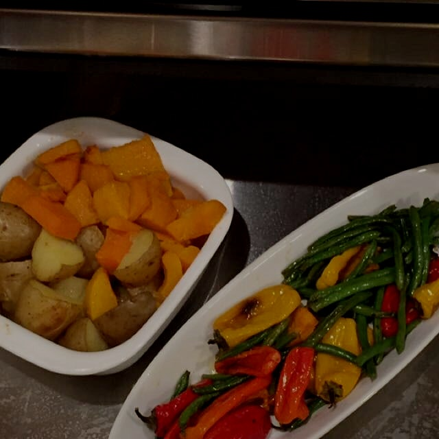 Last night s Veggies in the warming drawer