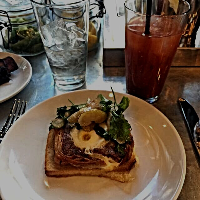 A little brunch before Macy's. #foodporn #drinkporn #nyceats #gothamwest #gothamwestmarket