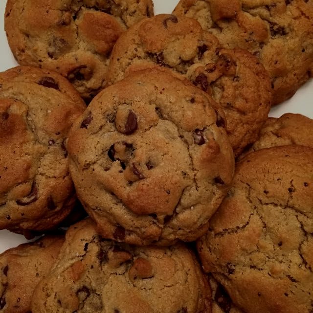 "Used the ""blizzard"" as an excuse to make some chocolate chip cookies with a healthier twist. Chec..."
