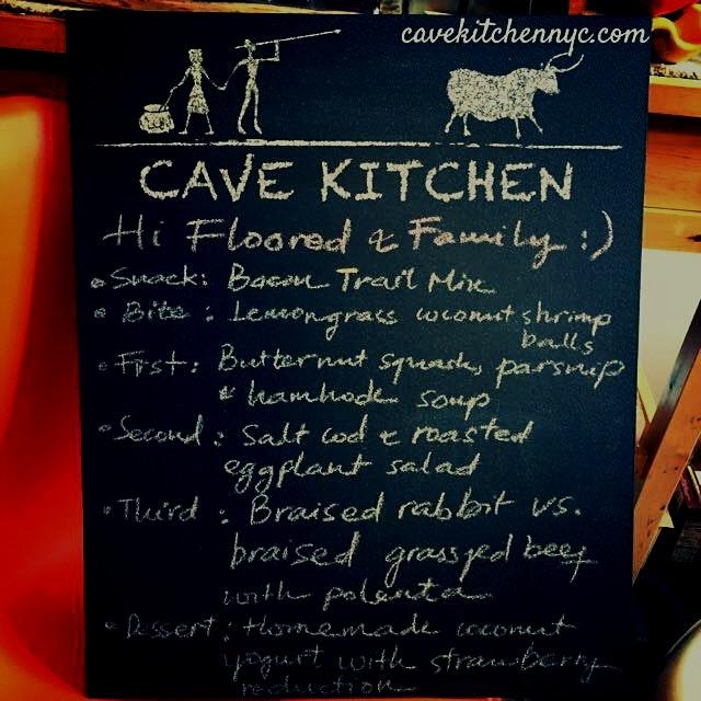 Our latest #cavekitchen dinner...