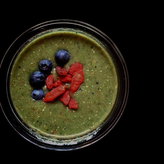 This was our super healthy green smoothie breakfast for this morning. Super yummy and super healt...