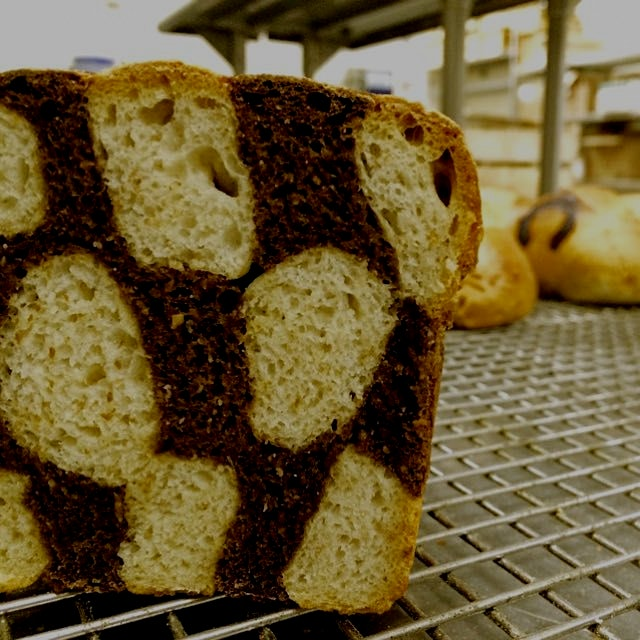 Black & White Checkerboard Bread
