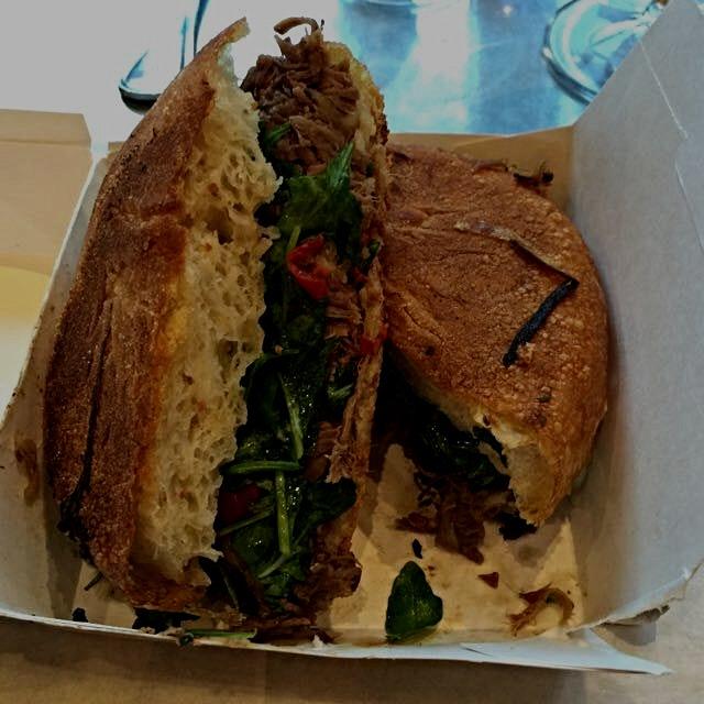 Yummy pressed Beef Shank sandwich. #foodporn #nyceats @gotham_west @gwmarket