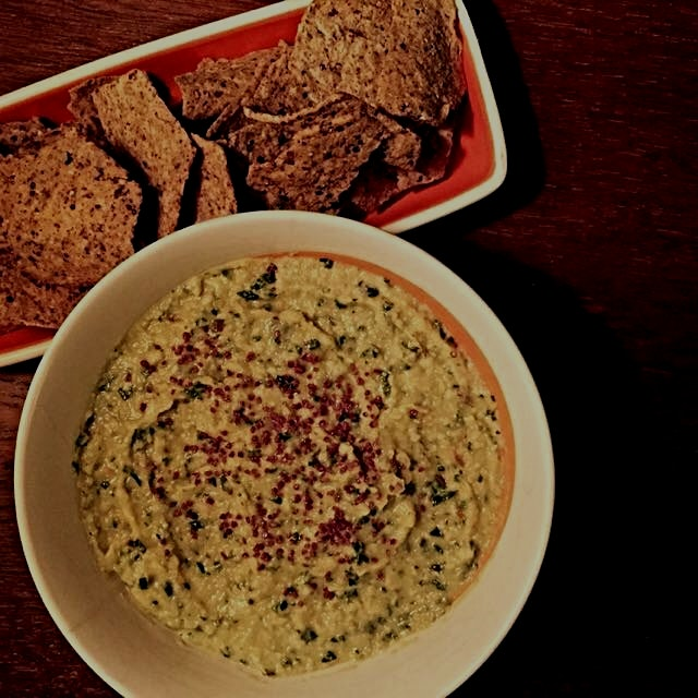 White Bean + Artichokes + Kale Dip, a healthy and delicious option for the Super Bowl, recipe on ...