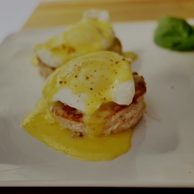 Sunday morning #breakfast of #cajun spiced Eggs Benedict with #homemade hollandaise and langousti...
