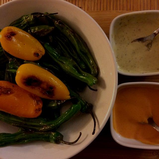 Roasted peppers. Aïoli. #dinner #appetizer #homemade #noms