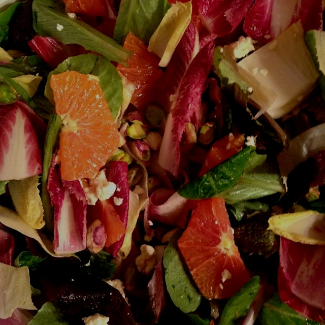 Bright winter salad with crunchy, bitter endive.