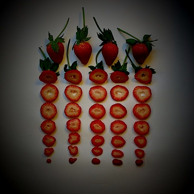 Just strawberries-scape!