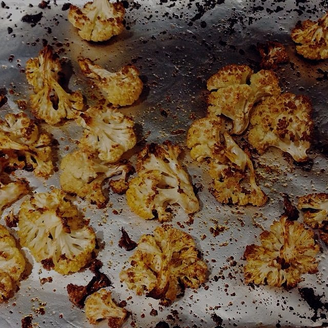 Last night was all about Roasting Cauliflower Florets for me!