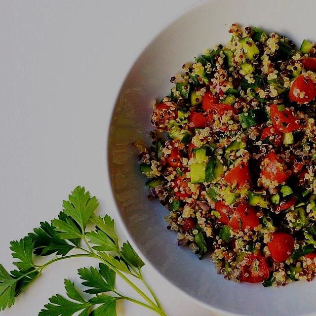 The vibrant and green Tabbouleh salad 💚