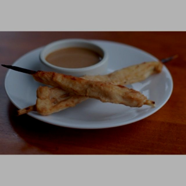 Chicken Satay with Peanut Sauce recipe from my food blog! http://www.whatscookingwithjim.com/reci...