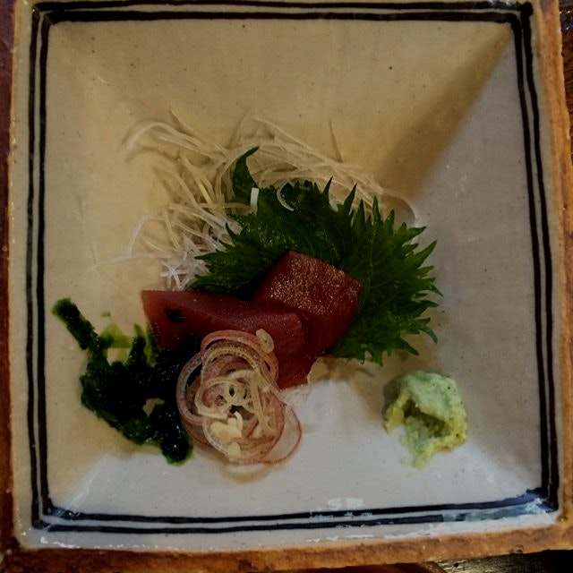 The best tuna sashimi I've had in a decade (and I remember that other time!). At the tiny but Mic...