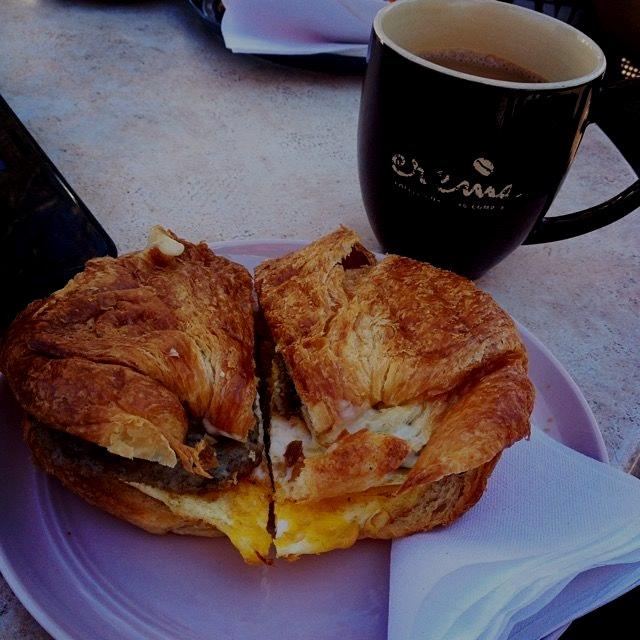 Sunshine, coffee, breakfast. Nothing better!