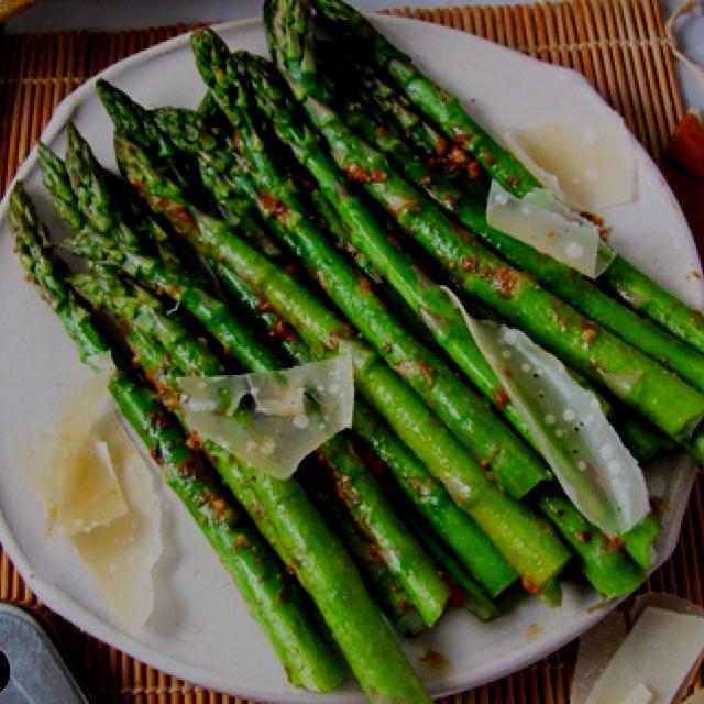 Roasted Umami Bomb Asparagus on the blog http://debspots.com/2015/02/27/umami-bomb-asparagus/