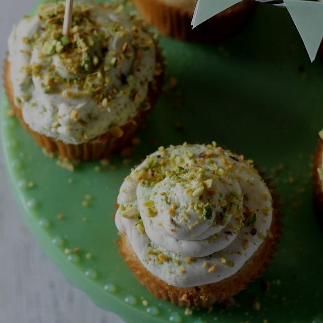 Gluten-free Vanilla bean and Pistachio cupcakes for Pisces... Recipe is on Foodbymars.com