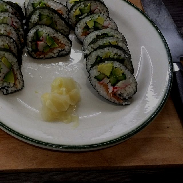 Out of character? perhaps. But #homemade futomaki soothes my pain.