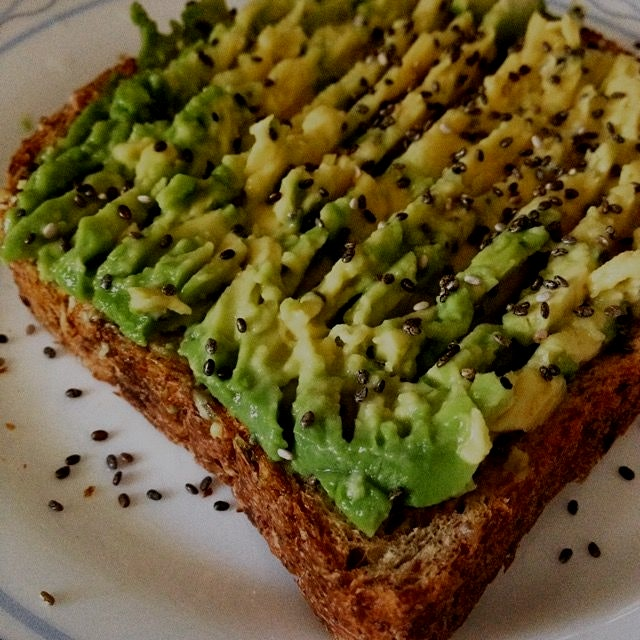 Avocado toast is always the right choice for breakfast!