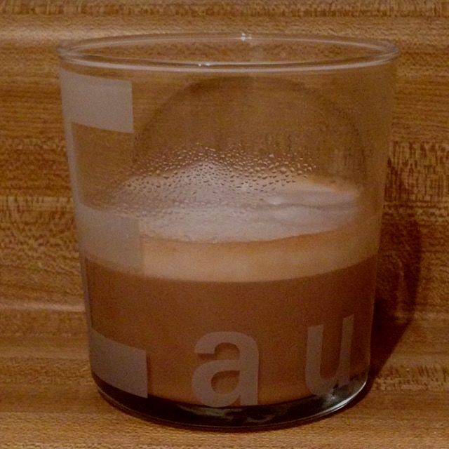 Not eau, but a delicious latte made by Alberto 💗