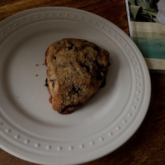 Vegan gluten free blueberry scone.