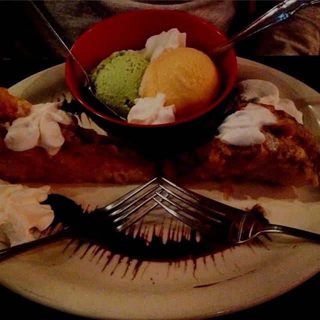 That's tempura fried PB&J, proving dreams come true. ✨
