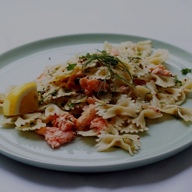 Some smoked salmon pasta for lunch maybe?
