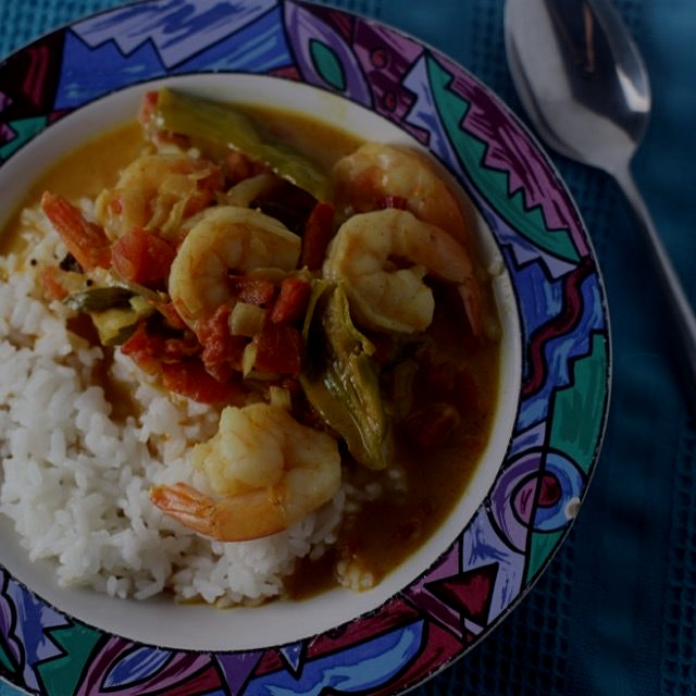 Malabar shrimp curry! Mmmm the aroma of fresh sizzly spices.