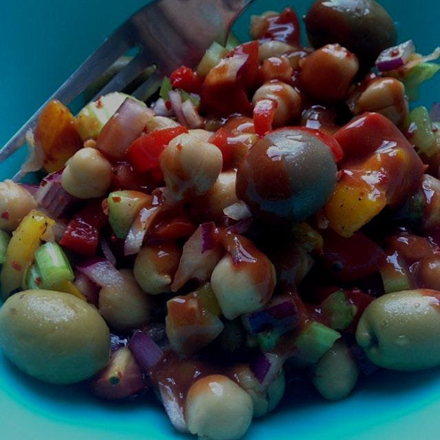 Homemade chickpea salad