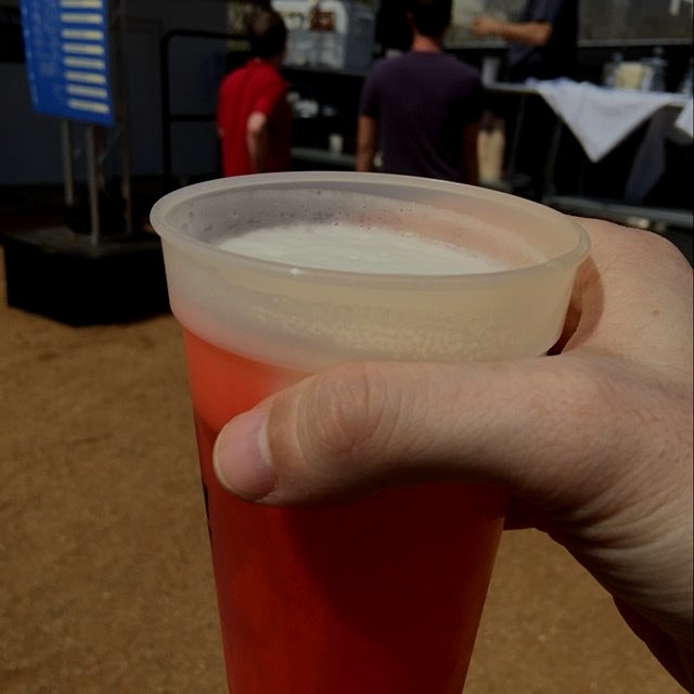 Beer in a color changing mood cup #sxsw