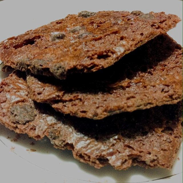 Brownie Brittle - tastes like a brownie, crunches like a cookie
