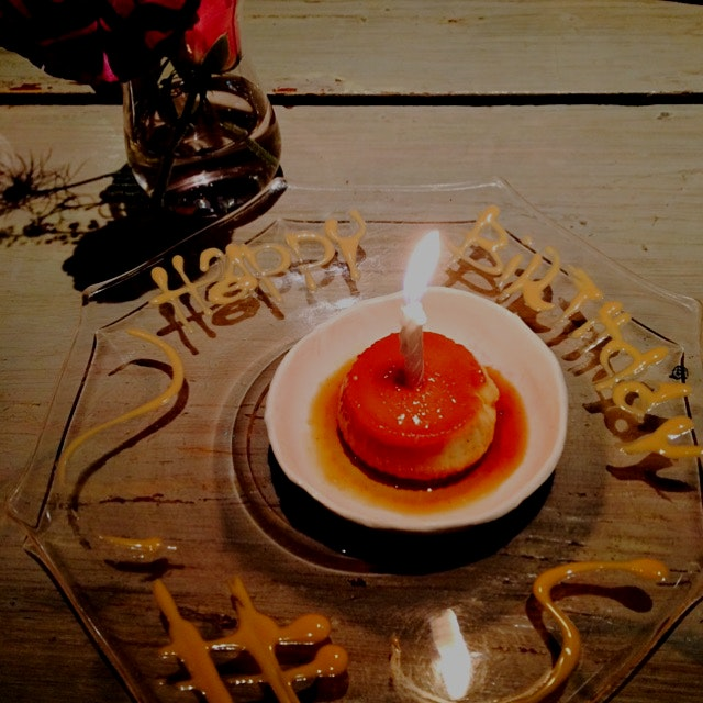 ABC Kitchen Birthday Flan :)