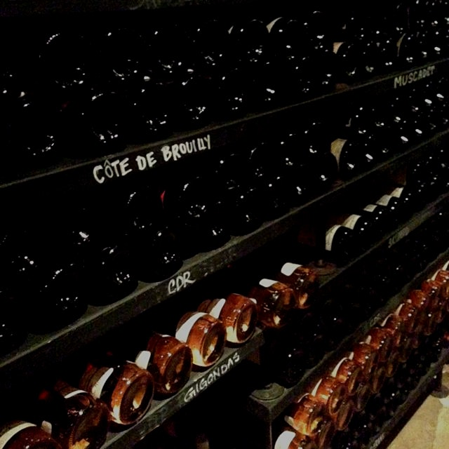 Wine cellar at Buvette, NYC. So much Cotes du Rhone, so little time.
