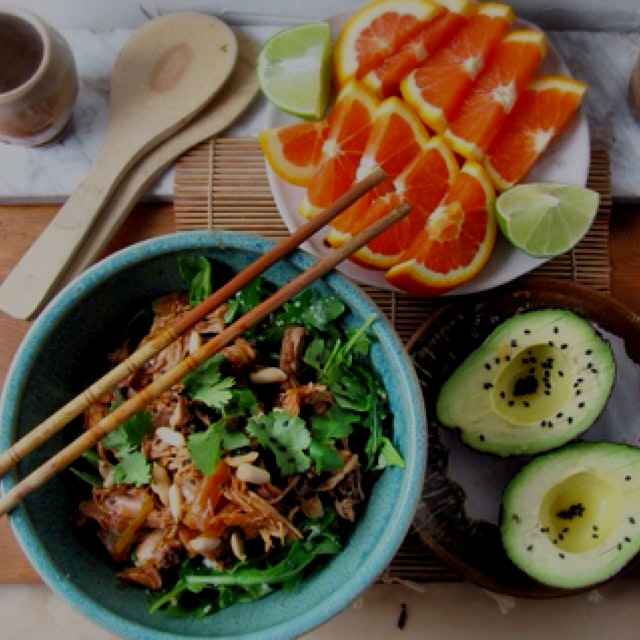 Slow Cooker Honey Soy Pulled Chicken, on my blog now, http://debspots.com/2015/03/21/slow-cooker-...