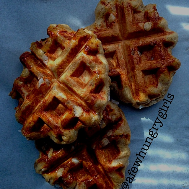 These authentic Belgium waffles were the best! Gooey, sweet, warm, and yummy! Recipe on my blog h...