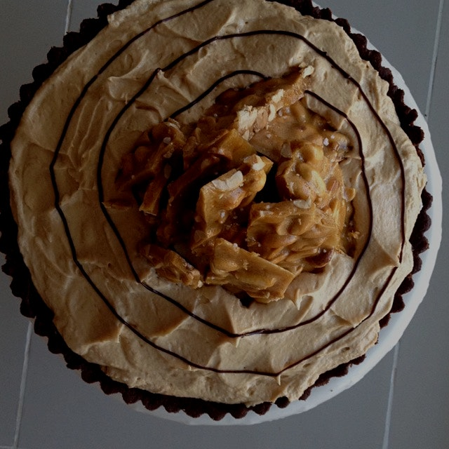 Very busy with recipe testing in the run up to Pi week last week.  This is peanut butter cup pie ...