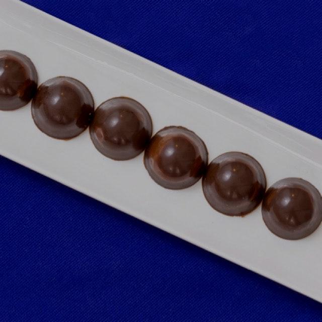 Dark chocolate, chia, sea salt truffles