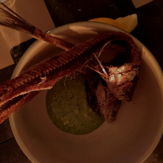 I never ever thought I would say this but ... I ate a fish head. Prepared by Nancy Silverton the ...
